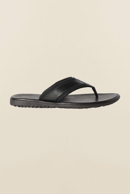 Allen Solly Black Slippers