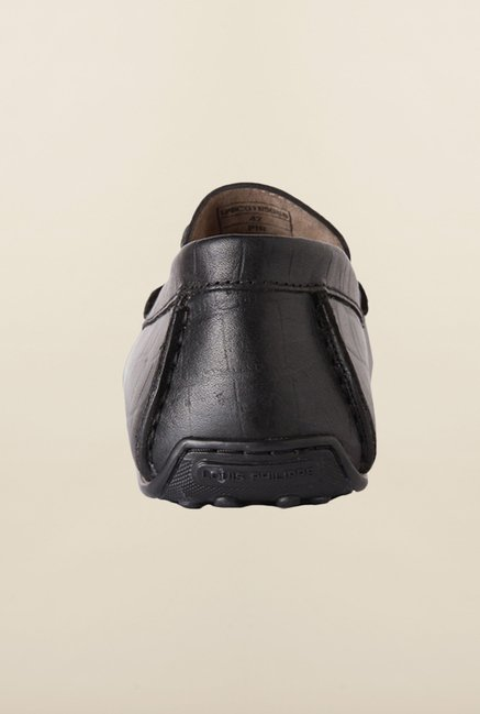 Louis Philippe Black Loafers