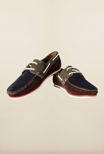 Louis Philippe Navy Boat Sneakers