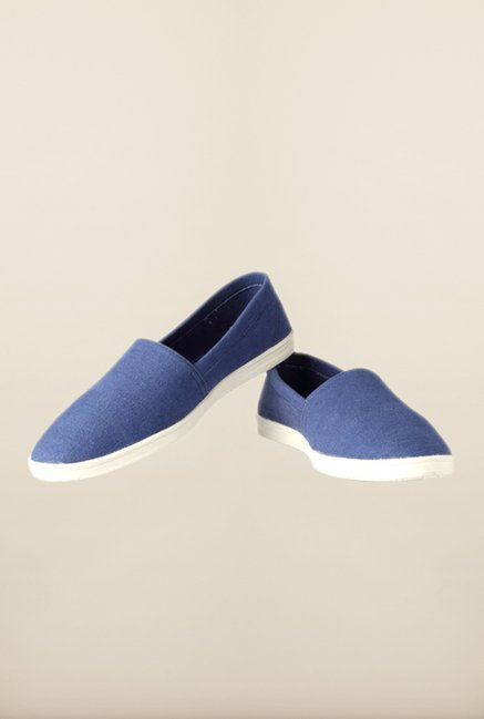 People Blue Casual Slip-Ons