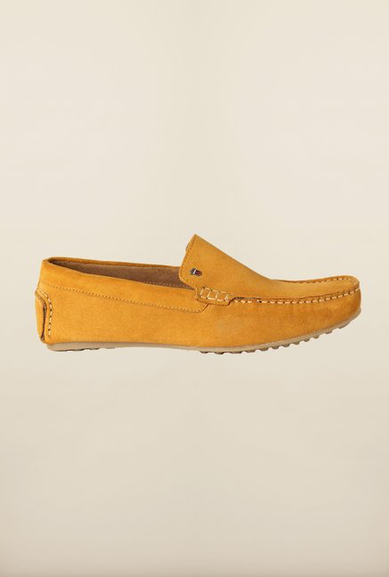 Louis Philippe Yellow Loafers