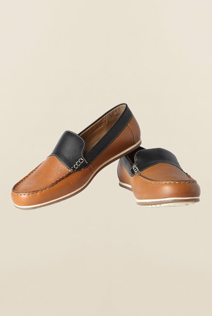 Van Heusen Brown & Black Loafers