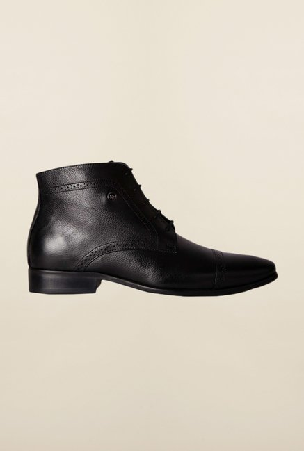 Louis Philippe Black Derby Boots