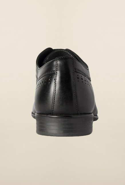 Allen Solly Black Derby Shoes