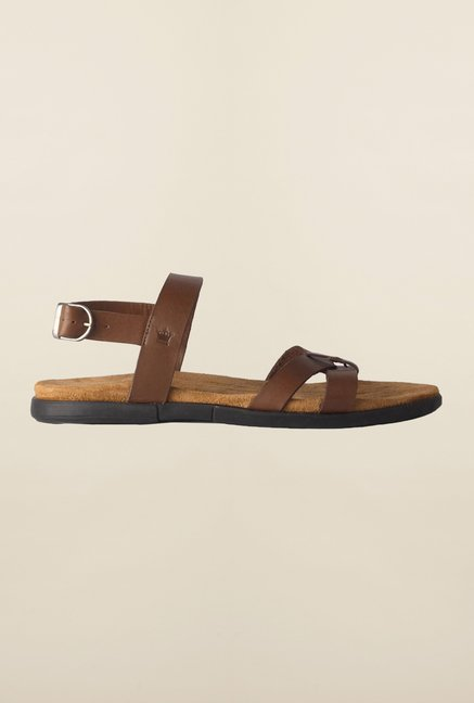 Louis Philippe Brown Back Strap Sandals