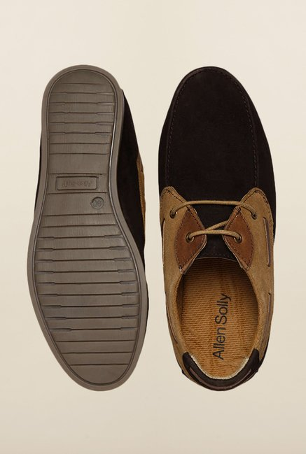 Allen Solly Brown & Black Boat Shoes