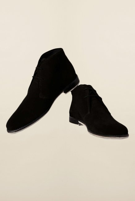 Van Heusen Black Chukka Shoes
