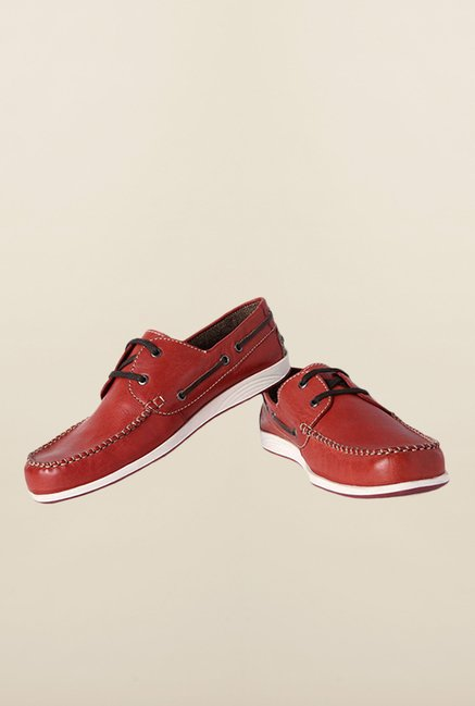 Allen Solly Maroon Boat Shoes