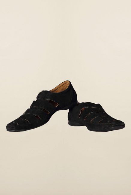 Allen Solly Black Fisherman Sandals