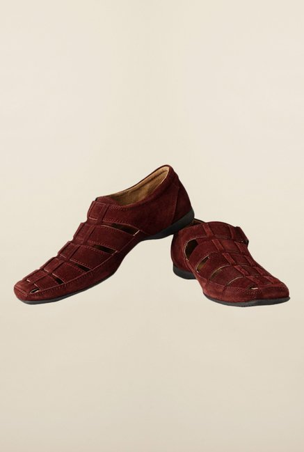 Allen Solly Maroon Fisherman Sandals