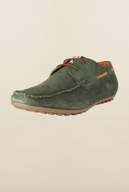 Allen Solly Green Boat Shoes