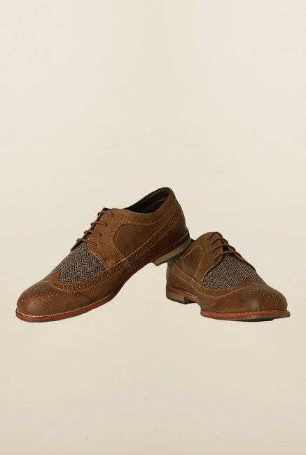 Allen Solly Khaki Brogue Shoes