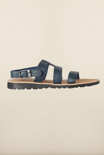 Louis Philippe Navy Back Strap Sandals