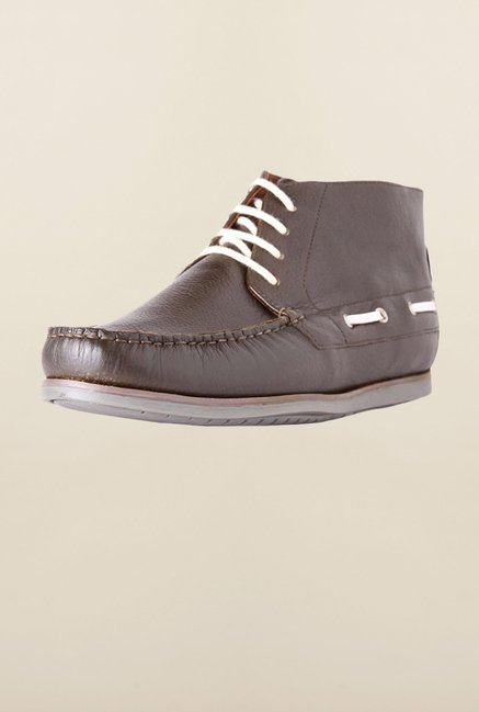 Louis Philippe Grey Boat Shoes