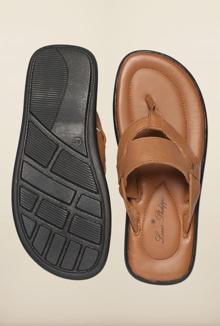 Louis Philippe Tan Thong Sandals