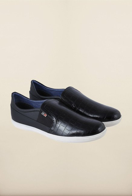 Arrow Black Slip-Ons Shoes