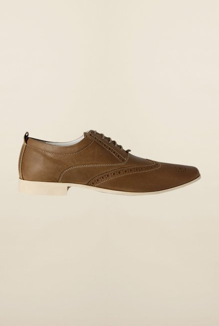 Van Heusen Khaki Oxford Shoes