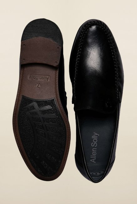 Allen Solly Black Formal Slip-Ons Shoes