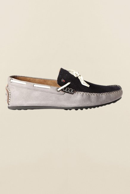 Louis Philippe Grey & Black Moccasins