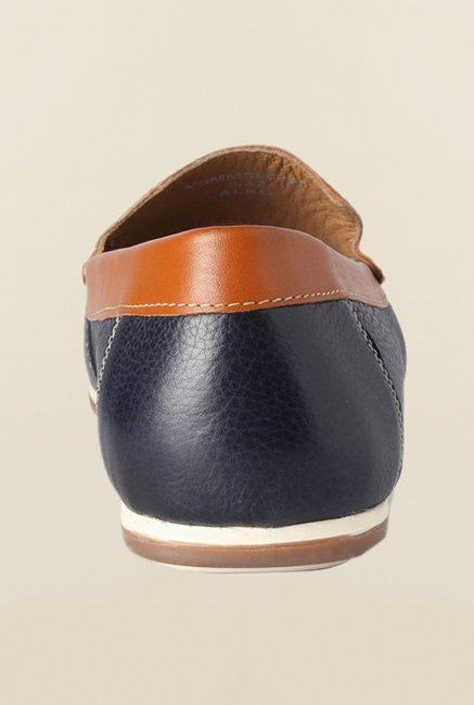 Van Heusen Navy & Brown Loafers