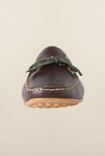 Louis Philippe Dark Brown Moccasins