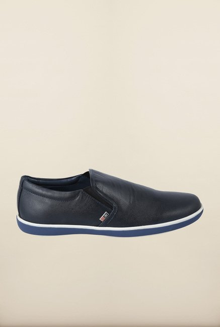 Arrow Navy Leather Slip-Ons Shoes
