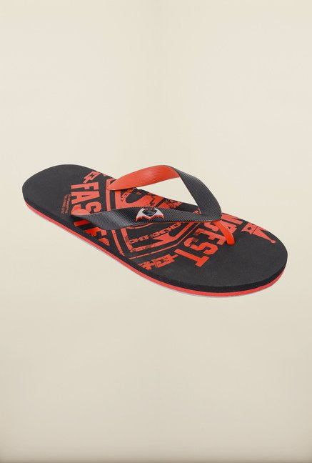 Dawn of Justice Black & Red Thong Flip Flops