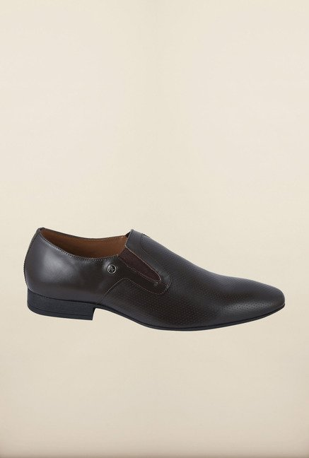 Arrow Brown Leather Slip-Ons Shoes