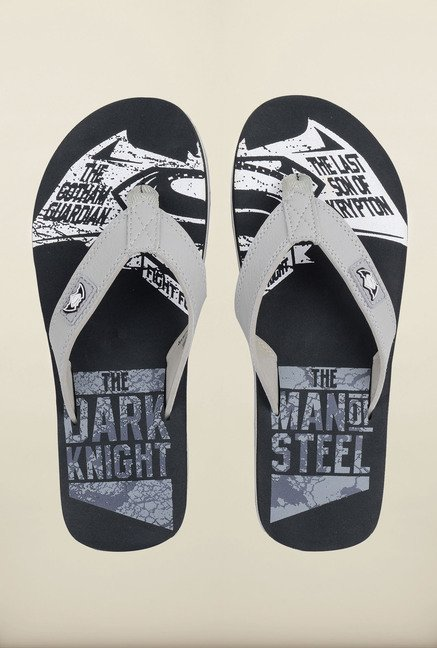 Dawn of Justice Charcoal Thong Flip Flops
