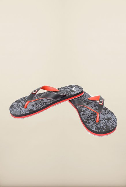 Dawn of Justice Black Thong Flip Flops