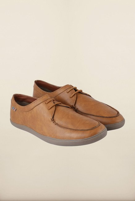 Arrow Tan Lace Up Casual Shoes