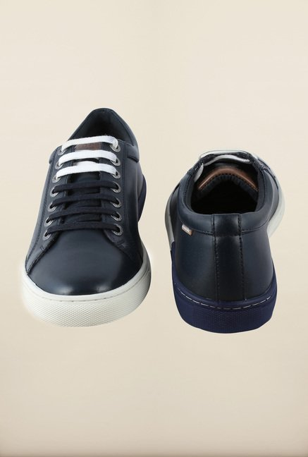 US Polo Assn. Navy Leather Sneakers