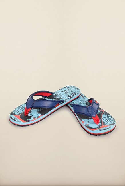 Dawn of Justice Sky Blue Thong Flip Flops