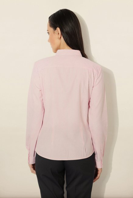 Van Heusen Pink Striped Shirt