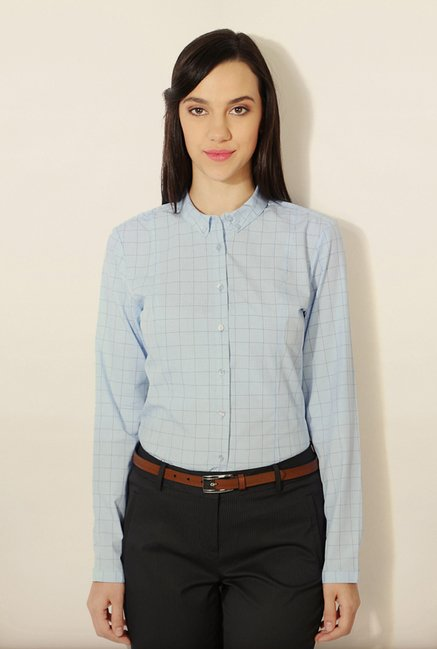 Van Heusen Blue Checks Shirt