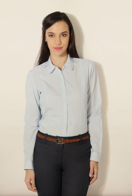Van Heusen Sky Blue Pin Striped Shirt