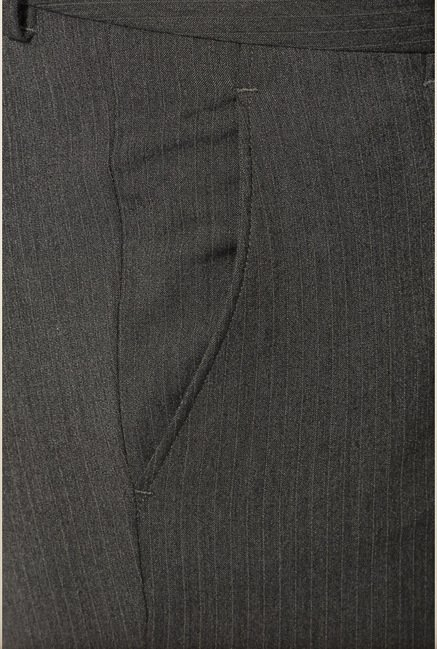 Van Heusen Dark Grey Striped Trouser