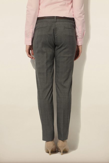 Van Heusen Grey Checks Trouser