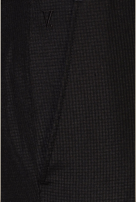 Van Heusen Black Checks Trouser