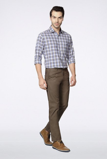 Van Heusen Grey Casual Trousers