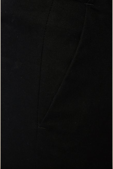 Van Heusen Black Solid Trouser