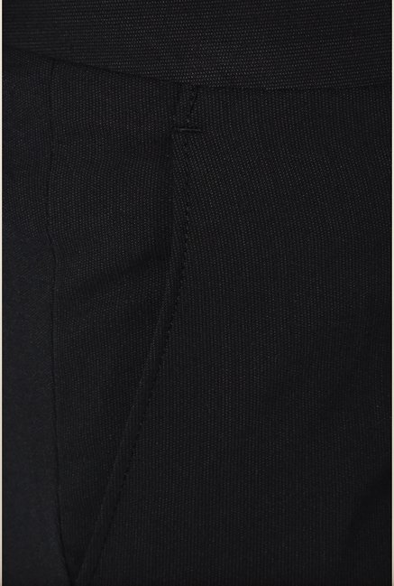 Van Heusen Navy Solid Slim Fit Trouser