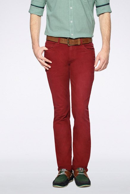 Van Heusen Red Casual Trousers
