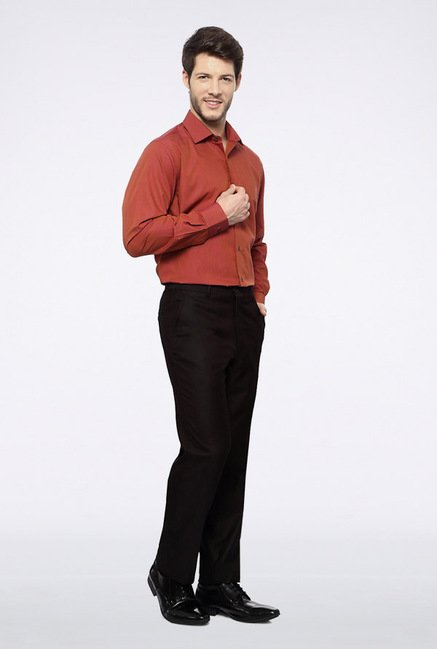 Van Heusen Black Casual Trousers
