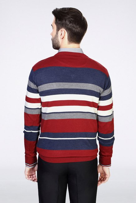 Van Heusen Multicolor Striped Sweater