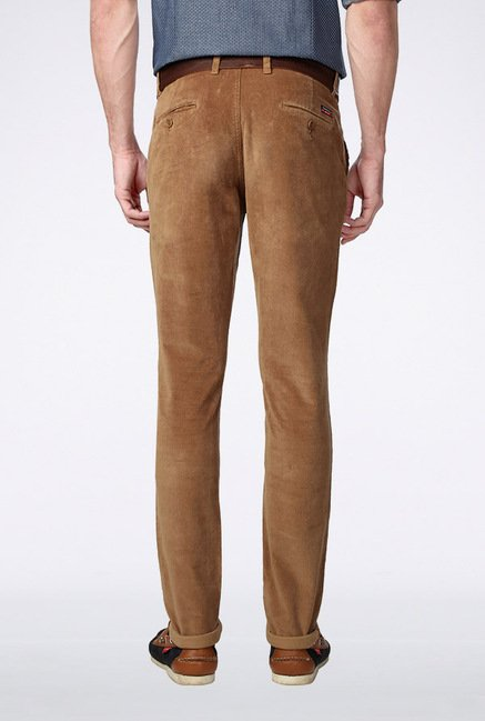 Van Heusen Brown Casual Trousers