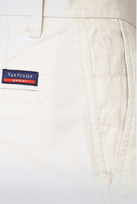 Van Heusen Cream Casual Trousers