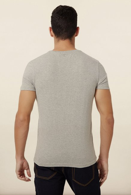 University Of Oxford Grey Printed Crew T Shirt