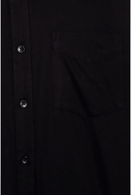 University Of Oxford Black Solid Casual Shirt