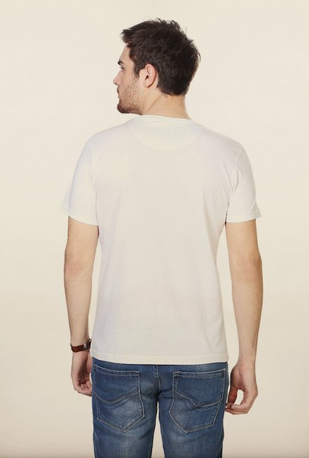 People White Printed Crew T Shirt